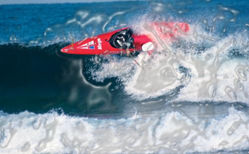 Mundial de Kayaksurf 2007, 2º posición en kayak largo, Foto de Urko Otxoa
