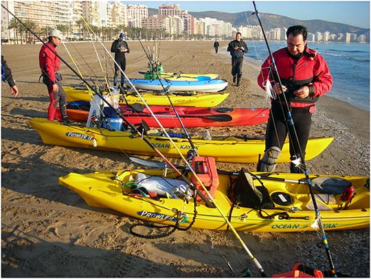 Preparativos en la playa