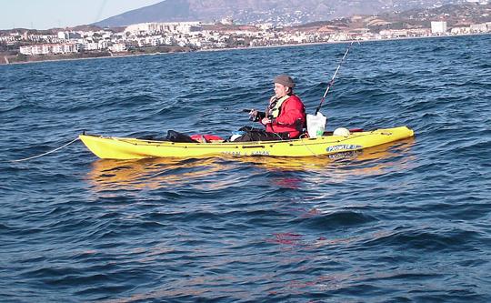Kayadoc en Acción de pesca