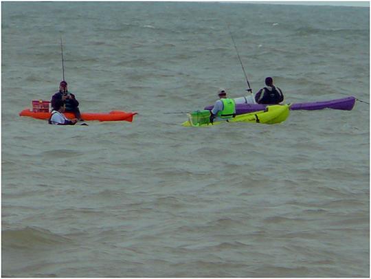 Grupo de Pesca en el Mar