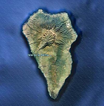 Isla de la Palma, Imagen de Google Earth