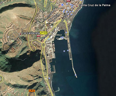 PuertoSantaCruz, imagen de Google Earth